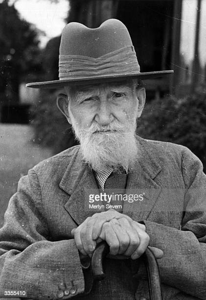 Irish dramatist and critic George Bernard Shaw , perhaps most famous for his play 'Pygmalion', shortly before his ninetieth birthday. Original...