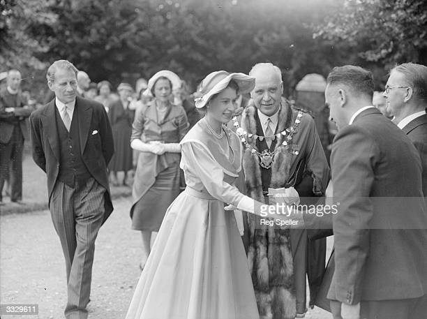Queen Elizabeth II paid her first visit to Hemel Hempstead to lay the foundation stone of St Barnabas Church She then drove to St Albans Cathedral...