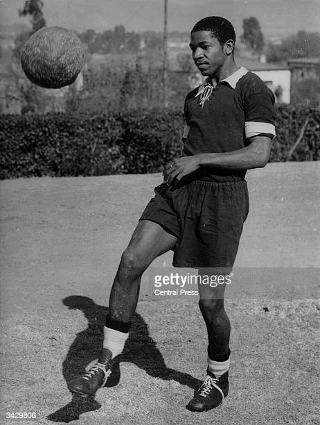 South African footballer Steve Mokone nicknamed 'Kalamazoo' who is hoping to join Coventry City FC
