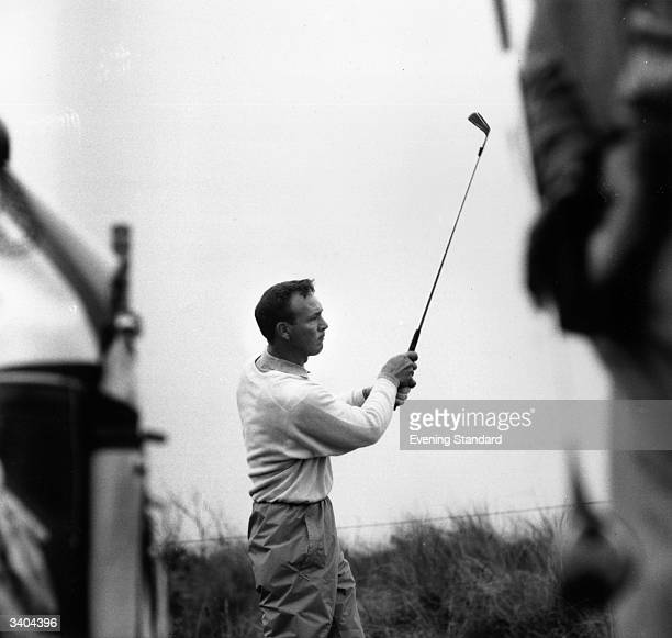 Popular American golfer Arnold Palmer on the golf course at Southport