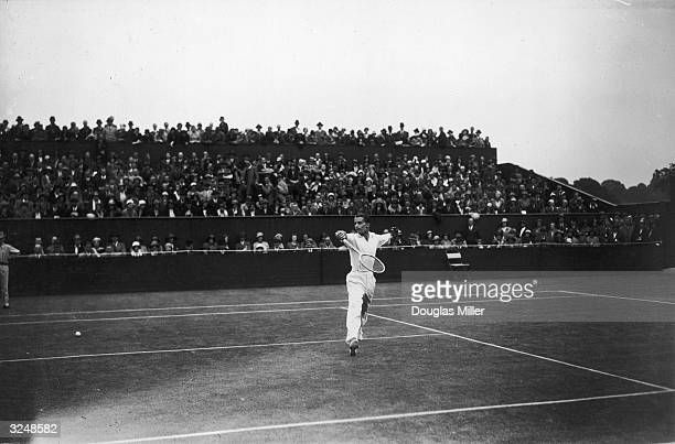 H W 'Bunny' Austin during the Championships at Wimbledon