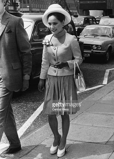 Madame Sukarno wife of the late Indonesian President in London when she was appearing at the High Court where she was suing a publisher for libel...
