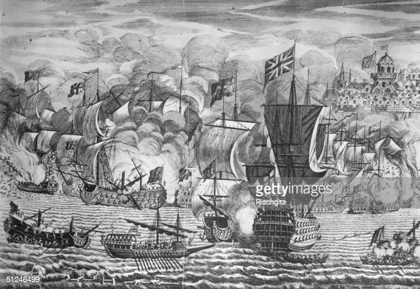 20th March 1704 The raising of the siege of Gibraltar by Sir John Leake