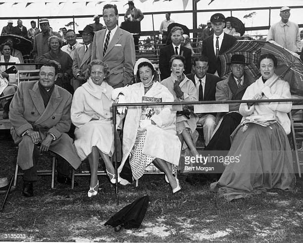 Guests at the Palm Beach Polo Club in Florida Stephen Sanford Ann Woodward William Woodward Junior Mrs Sanford Mrs Pansa Charles Wacker and the Duke...