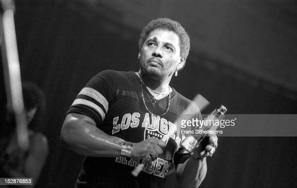 20th MARCH: American singer Aaron Neville from The Neville Brothers, performs live on stage at the Paradiso in Amsterdam, Netherlands on 20th March...