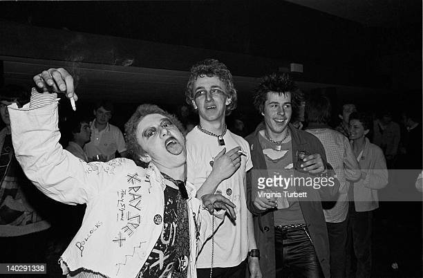 Punks and fans attend a concert by The Gang Of Four during the Rock Against Racism Red Rhino tour at West Runton in Cromer England on 20th March 1979
