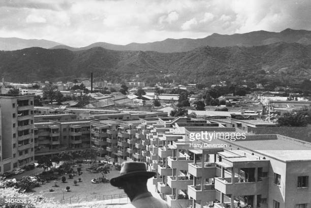 Government built flats in Caracas financed by profits from Venezuelan oil Original Publication Picture Post 5036 Poor Little Rich Country pub 1950