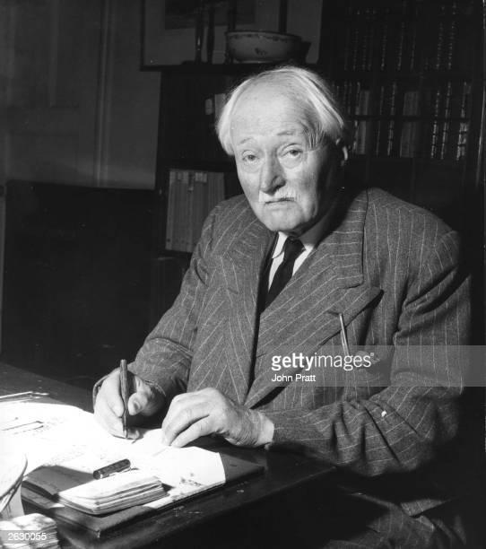 British Poet Laureate John Masefield at home