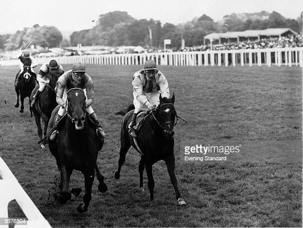 English jockey Lester Piggott riding Twilight Abbey at Ascot He went on to win the Ascot Gold Cup
