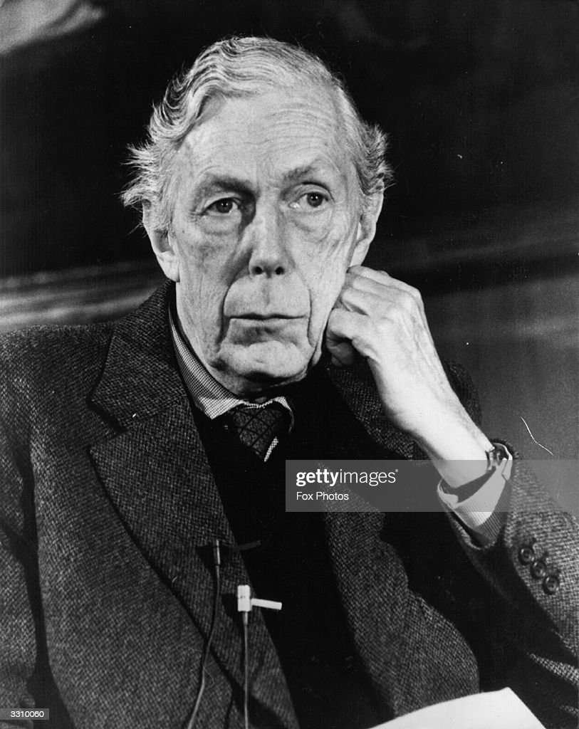 British art historian and Soviet spy Anthony Blunt at a press conference following revelations that he was the fourth man in the Burgess, Maclean, Philby spy scandal of the 1950's.