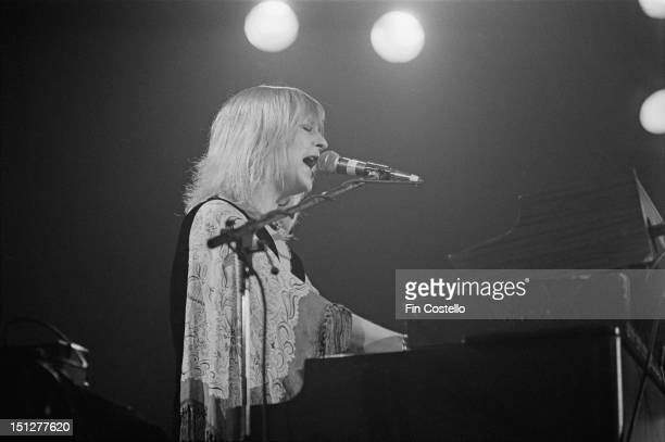 singer and keyboard player Christine McVie of BritishAmerican rock band Fleetwood Mac performs live on stage at Yale Coliseum in New Haven...
