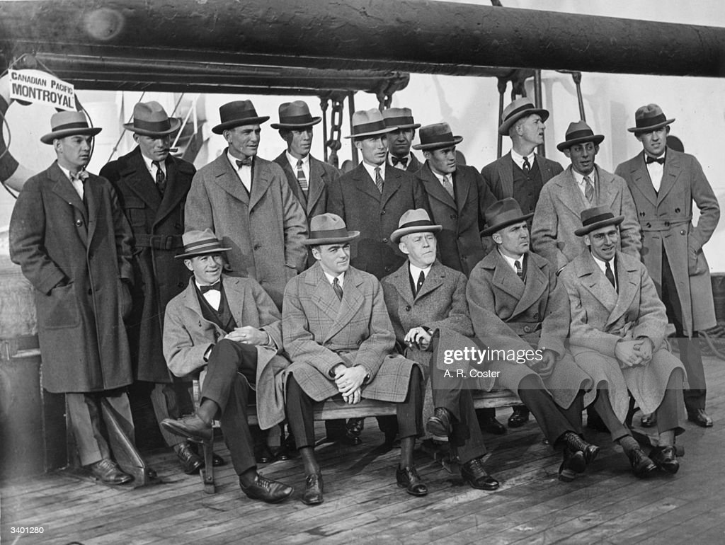 The Chicago White Sox baseball team arrive at Liverpool on the CPR liner 'Montroyal'.
