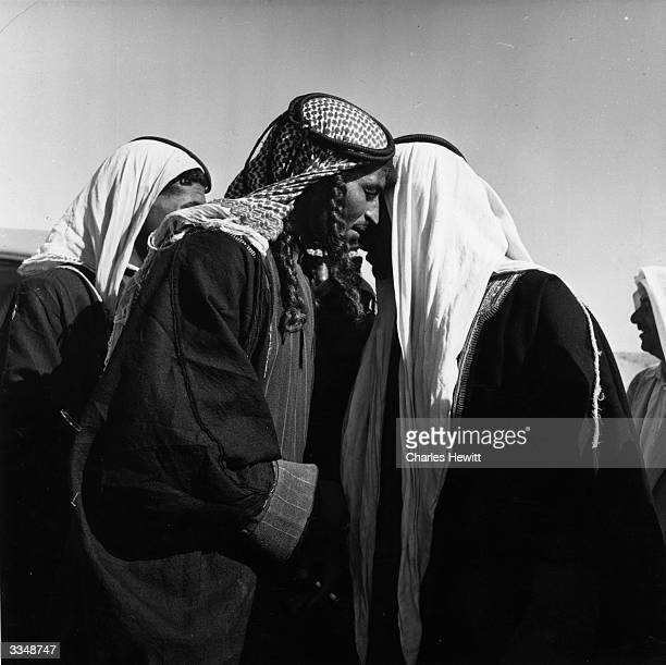 Group of members of Jordan's Arab League. Original Publication: Picture Post - 5549 - Glubb Pasha: A Man With A Problem - pub. 1951