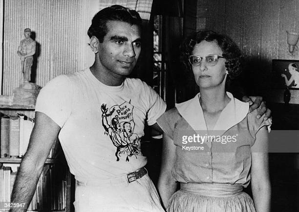 ExPrime Minister of Guyana Dr Cheddi Jagan with his wife Janet who together run the communist Peoples Progressive Party in Georgetown