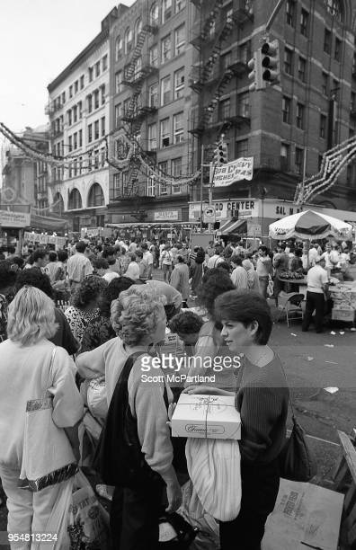 New York City Crowds of people pack the streets of Little Italy during the annual Feast Of San Gennaro Festival