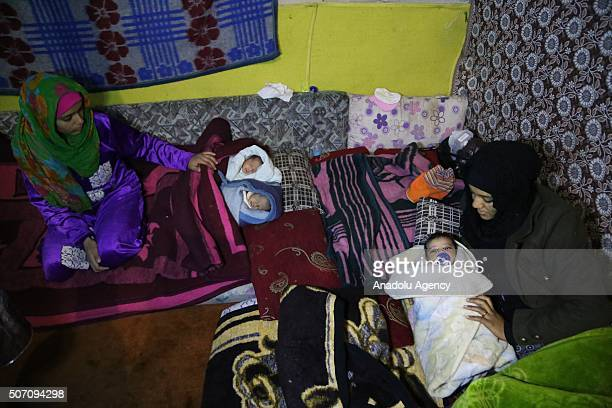20yearold Nesrin Gilif and 19yearold Behiya Gasim raise their babies after escaping from Syria due to ongoing civil war as they continue their lives...