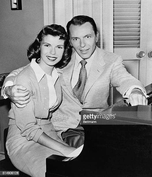 2/11/1958Hollywood CA Frank Sinatra and the apple of his eye daughter Nancy are pictured together at one of their rehearsals for the 'Frank Sinatra...