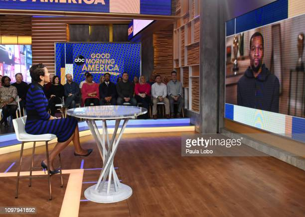 AMERICA 2/11/19Robin Roberts talks with Kevin Durant on Monday Feb 11 2019 on ABC's 'Good Morning America' 'Good Morning America' airs MondayFriday...