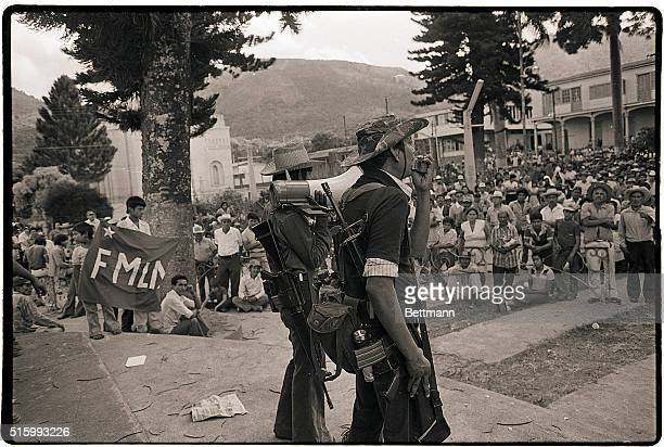 2/1/1983Berlin El Salvador Rebel leaders explain the motives of their attack on the city of about 12000 before a crowd of about 1000 residents Two...