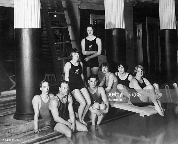 2/14/1923Buffalo NY Here's a group of world champion swimmers Young American men and women whose records have been the topic of much conversation in...