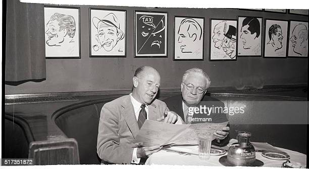 2/14/1954Hollywood CA Seated at the Brown Derby under a caricature of Amos 'n' Andy are the men who play the famous parts for CBS radio For 26 years...