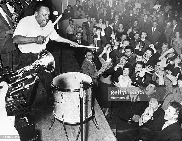 2/16/1956Vienna Austria Lionel Hampton American jazz artist currently on a European tour found a jazzcrazed cult holding out among Vienna's...