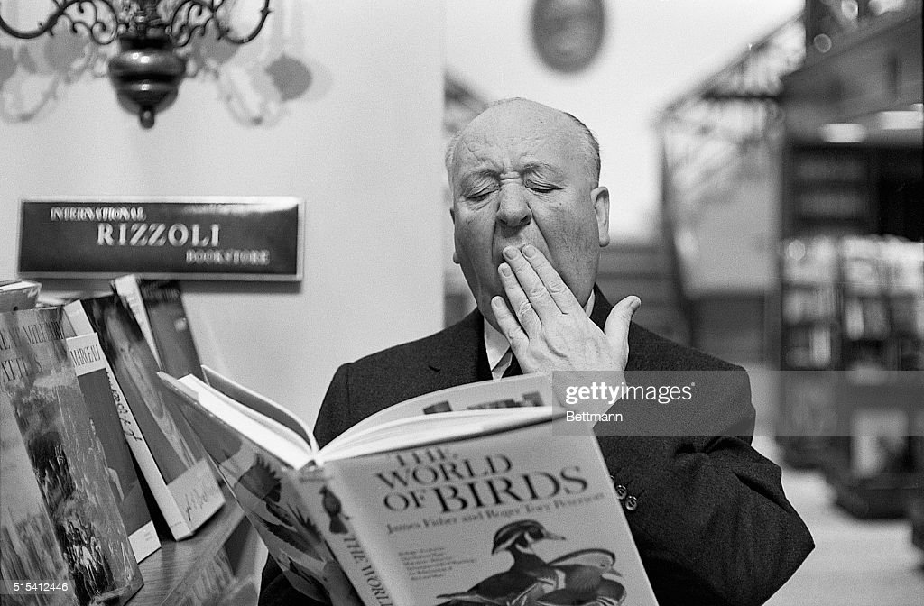 New York, NY-Alfred Hitchcock won't reveal the subject of his next movie, but he's obviously bored with the former friends who starred in his scare-film 'The Birds.' The maestro of mayhem was caught in the 'ho hum' mood when he dropped in at the Rizzoli Bookstore on New York's Fifth Avenue, to check on the latest 'Ghoulology.'