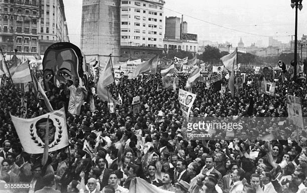 2/17/1946Buenos Aires ArgentinaThree Days after the Union Democratica party held a rally for its candidates the Labor party demonstrated for its...