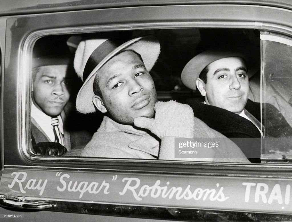 Sugar Ray Robinson Looking Out of Car : News Photo