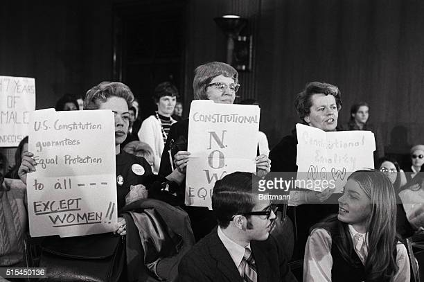 Washington, D.C.- A group of angry women representing the National Organization of Women , interrupt a Senate Judiciary Committee hearing on lowering...