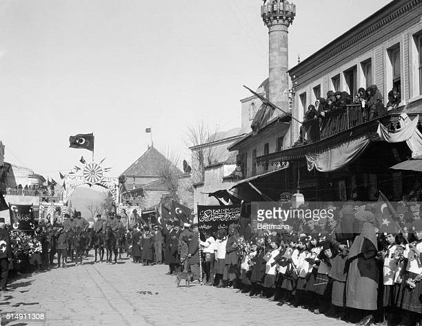 2/19/1923Smyrna Turkey This photo depicts the joyous reception tendered to Mustapha Kemal Pasha by the Turkish residents of Smyrna who greeted the...