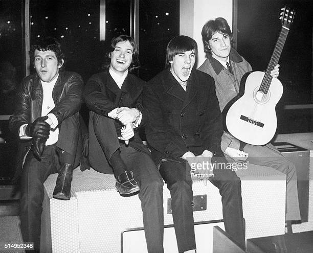 2/1965New York NY England's new numberone singing group The Kinks arrives at Kennedy International airport for American invasion on behalf of Reprise...