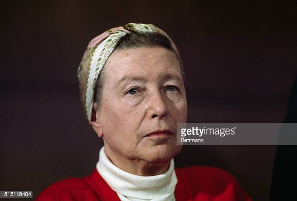 Simone De Beauvoir in a head and shoulders shot