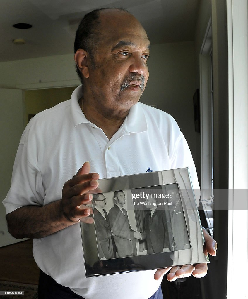 dions home office. Freedom Rider Dion Diamond Held A Photograph Of Him Shaking Hands With Dr. Martin Luther Dions Home Office