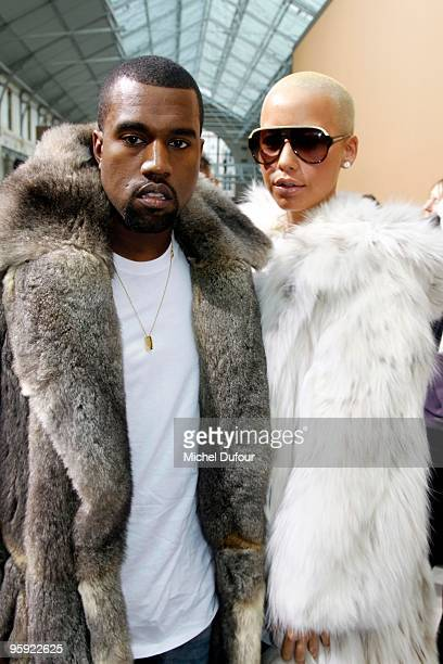 Amber Rose And Kanye West Stock Photos and Pictures ...