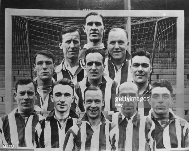 The Sheffield United team that beat Cardiff City 10 in the FA Cup final at Wembley Left to right back to front Sutcliffe Cock Milton Pantling King...