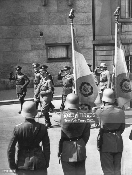 LR Baron Werner von Fritsch CommanderinChief of the German Army General Werner von Blomberg Germany's Minister of War German Fuhrer Adolf Hitler and...
