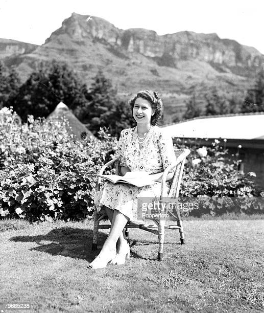21st April 1947 Natal South Africa Princess Elizabeth poses on her 21st birthday during the Royal Tour of South Africa