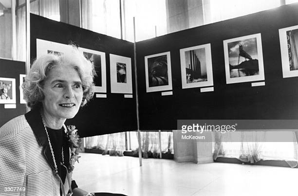 US photojournalist Margaret BourkeWhite at an exhibition