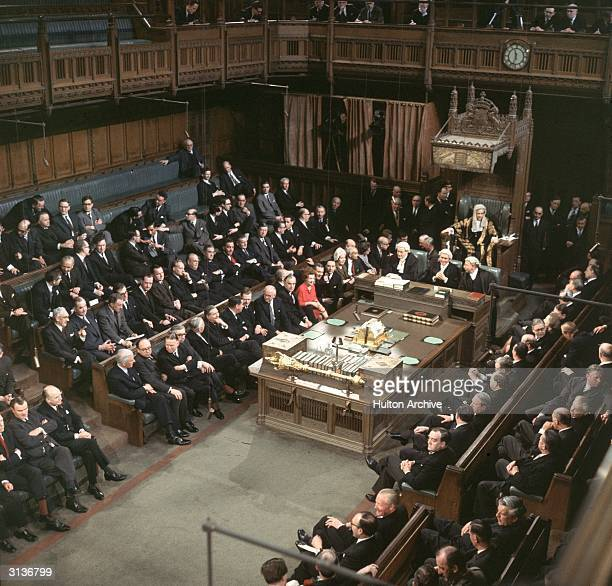 MPs at the State Opening of Parliament London Newly reelected members of the Labour Government on the front bench include Roy Jenkins George Brown...