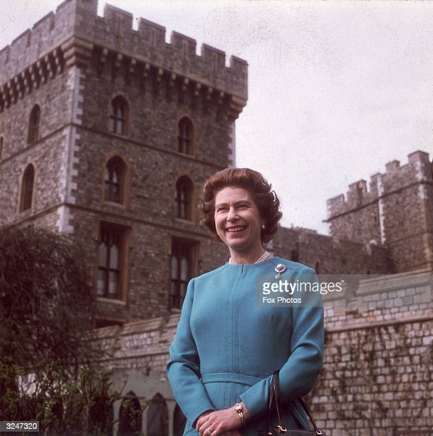 Queen Elizabeth II at Windsor Castle on the occasion of her 50th birthday