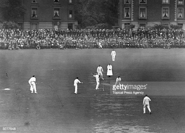 England v Australia at the Oval, second day, Smith of Australia being caught by E J Smith, the England wicket-keeper.