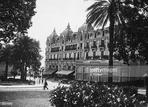 The grand exterior of the Hotel de Paris in Monte Carlo