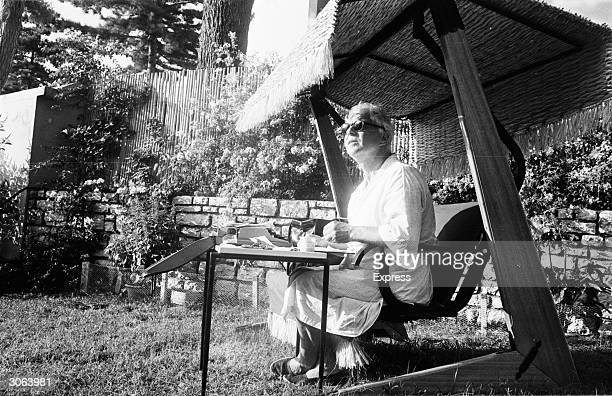 Welsh actor and writer Emlyn Williams in Corfu