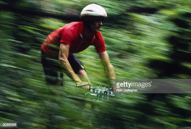 Cyclist taking part in a 'Super Gee' race at Barham in Kent.