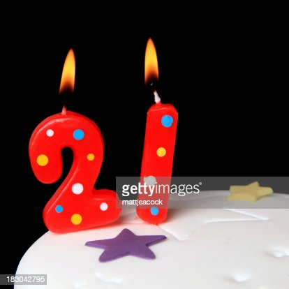 21st Birthday Candles High-Res Stock Photo - Getty Images