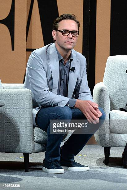 """21st Century Fox CEO James Murdoch speaks onstage during """"Fox and the Future"""" at the Vanity Fair New Establishment Summit at Yerba Buena Center for..."""