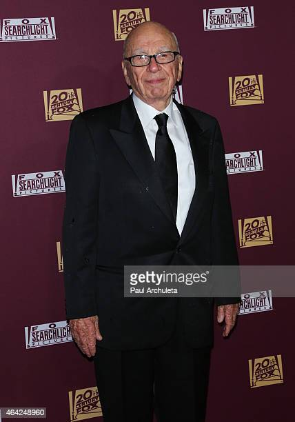 21st Century FOX Executive Rupert Murdoch attends the 21st Century Fox and Fox Searchlight Oscar Party at BOA Steakhouse on February 22 2015 in West...