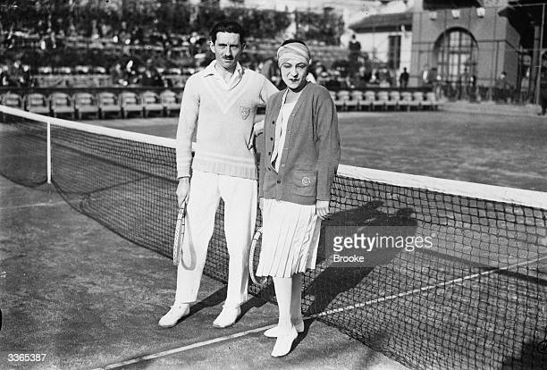 French tennis players Jacques Brugnon and Suzanne Lenglen partners in the mixed  doubles at the Championship c07a860822147