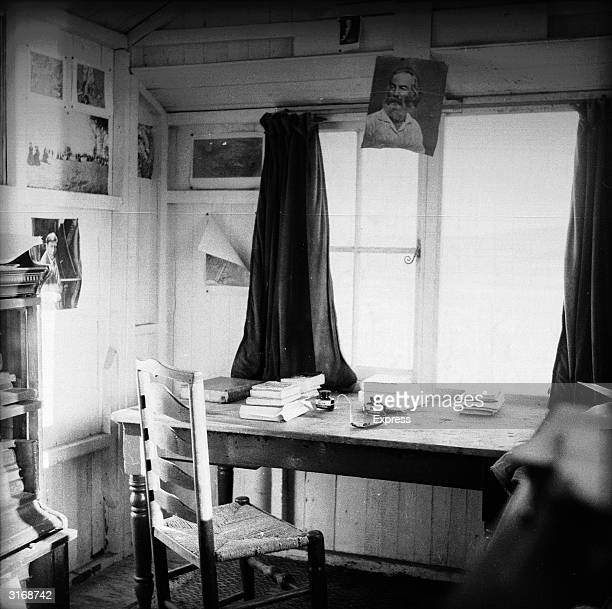 The writing desk of Welsh poet and playwright Dylan Thomas